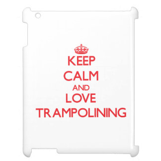 Keep calm and love Trampolining iPad Case