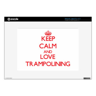 Keep calm and love Trampolining Netbook Decal