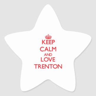 Keep Calm and Love Trenton Star Sticker
