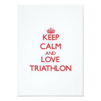 Keep calm and love Triathlon Cards