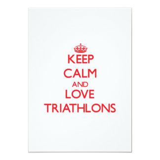 Keep calm and love Triathlons Invites