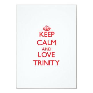 Keep Calm and Love Trinity 5x7 Paper Invitation Card
