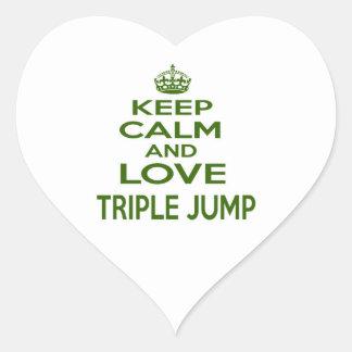 Keep Calm And Love Triple jump Heart Sticker