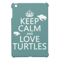 Case Savvy iPad Mini Glossy Finish Case with Keep Calm and Love Turtles design