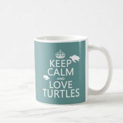 Classic White Mug with Keep Calm and Love Turtles design