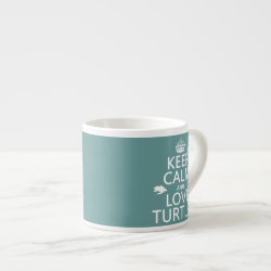 Espresso Cup with Keep Calm and Love Turtles design