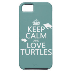Case-Mate Vibe iPhone 5 Case with Keep Calm and Love Turtles design