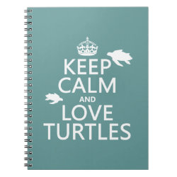 Photo Notebook (6.5' x 8.75', 80 Pages B&W) with Keep Calm and Love Turtles design
