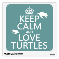 Walls 360 Custom Wall Decal with Keep Calm and Love Turtles design