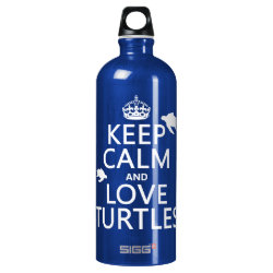 SIGG Traveller Water Bottle (0.6L) with Keep Calm and Love Turtles design