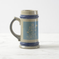 Stein with Keep Calm and Love Turtles design