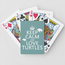 Playing Cards with Keep Calm and Love Turtles design