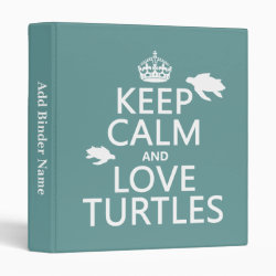 Avery Signature 1' Binder with Keep Calm and Love Turtles design