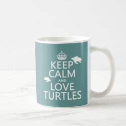 Classic White Mug with Keep Calm and Love Turtles design
