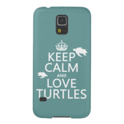 Case-Mate Barely There Samsung Galaxy S5 Case with Keep Calm and Love Turtles design