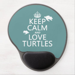Gel Mousepad with Keep Calm and Love Turtles design