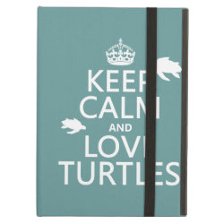 iPad Air Powis Case with Keep Calm and Love Turtles design