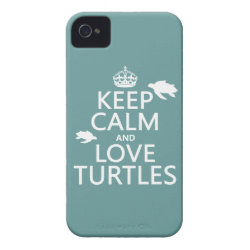 Case-Mate iPhone 4 Barely There Universal Case with Keep Calm and Love Turtles design