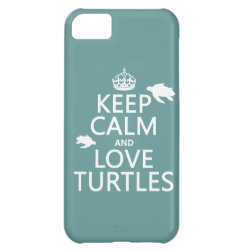 Case-Mate Barely There iPhone 5C Case with Keep Calm and Love Turtles design