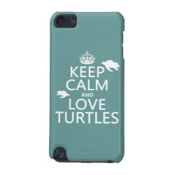 Case-Mate Barely There 5th Generation iPod Touch Case with Keep Calm and Love Turtles design