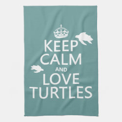 Kitchen Towel 16' x 24' with Keep Calm and Love Turtles design
