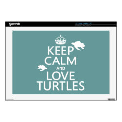 17' Laptop Skin for Mac & PC with Keep Calm and Love Turtles design