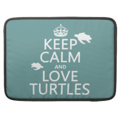 Macbook Pro 15' Flap Sleeve with Keep Calm and Love Turtles design