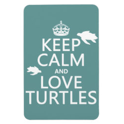 4'x6' Photo Magnet with Keep Calm and Love Turtles design