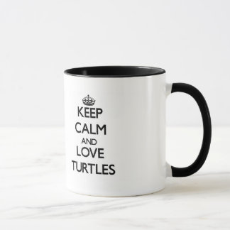 Keep calm and Love Turtles Mug