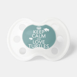 BooginHead® Custom Pacifier (6+ Months) with Keep Calm and Love Turtles design