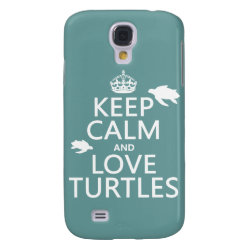 Case-Mate Barely There Samsung Galaxy S4 Case with Keep Calm and Love Turtles design
