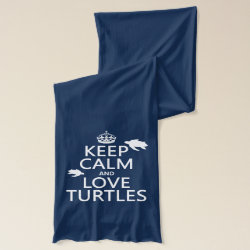 Jersey Scarf with Keep Calm and Love Turtles design