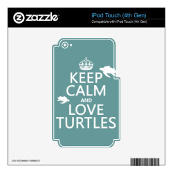 iPod Classic (80/120/160GB) Skin with Keep Calm and Love Turtles design