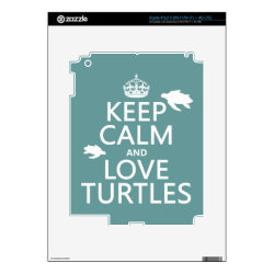 Amazon Kindle DX Skin with Keep Calm and Love Turtles design