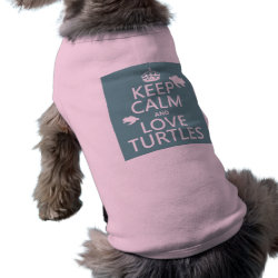Dog Ringer T-Shirt with Keep Calm and Love Turtles design
