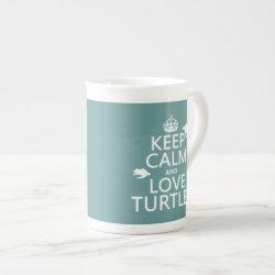 Bone China Mug with Keep Calm and Love Turtles design
