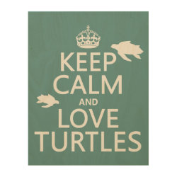 11'x14' Wood Canvas with Keep Calm and Love Turtles design