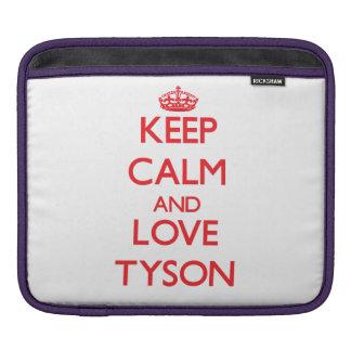 Keep calm and love Tyson iPad Sleeves