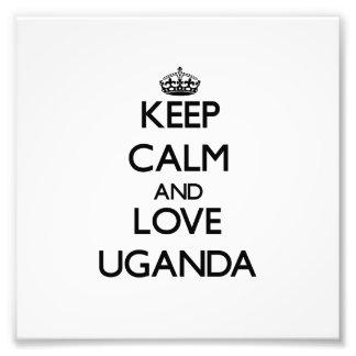 Keep Calm and Love Uganda Photo Print