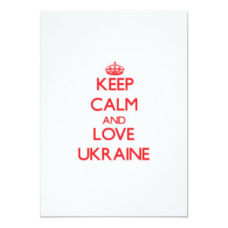 Keep Calm and Love Ukraine 5x7 Paper Invitation Card