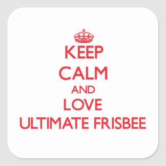 Keep calm and love Ultimate Frisbee Stickers