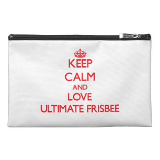 Keep calm and love Ultimate Frisbee Travel Accessory Bag