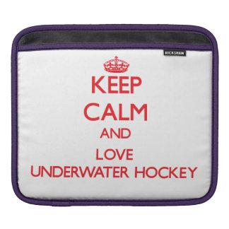 Keep calm and love Underwater Hockey iPad Sleeves