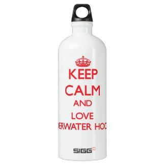 Keep calm and love Underwater Hockey SIGG Traveler 1.0L Water Bottle