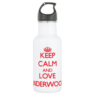 Keep calm and love Underwood 18oz Water Bottle