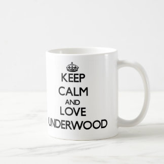 Keep calm and love Underwood Classic White Coffee Mug