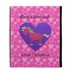 Keep calm and love unicorns iPad folio case