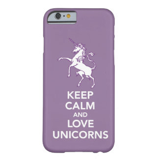 Keep Calm and Love Unicorns iPhone 6 case cover