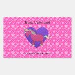 Keep calm and love unicorns rectangular sticker