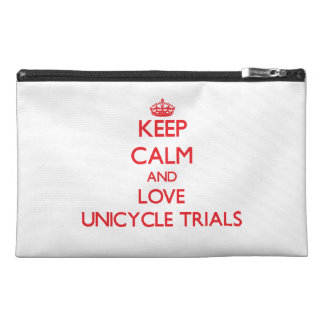 Keep calm and love Unicycle Trials Travel Accessory Bags